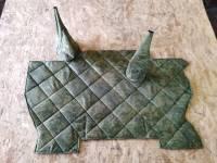 Коврик под рычаги УАЗ 452 (оксфорд 210д, ватин, поролон (5мм))