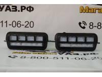 Подфарники (надфарники) светодиодные НИВА 2121, 21213, 21214 (комплект 2шт.)