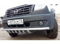 Дуга-защита переднего бампера УАЗ Профи одинарная с защитой рулевых тяг