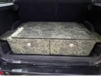 Органайзер-спальник на металокаркасе багажного отделения в УАЗ Патриот