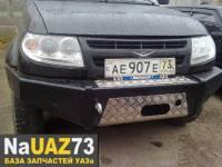 Бампер передний на УАЗ Патриот Рысь 2015 без кенгурина