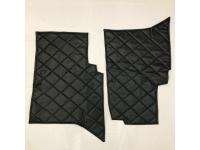 """Коврики под сиденье УАЗ 452  (2 предмет)  (винил/кожа, поролон, ватин, стеганый """"ромб"""")  Цвет: чёрный, серый"""