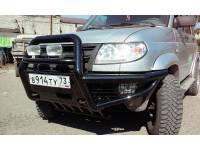 Бампер передний Беркут-1 на УАЗ Патриот