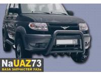 Кенгурин на УАЗ Патриот 2015 трубный с защитой двигателя