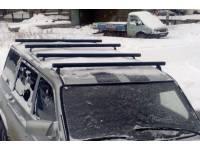 Поперечные реллинги на УАЗ Патриот из нержавеющей трубы