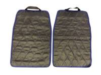 Защитные чехлы на сиденья (незапинайка) чёрный ромб, двойная синяя строчка, к-т 2 шт